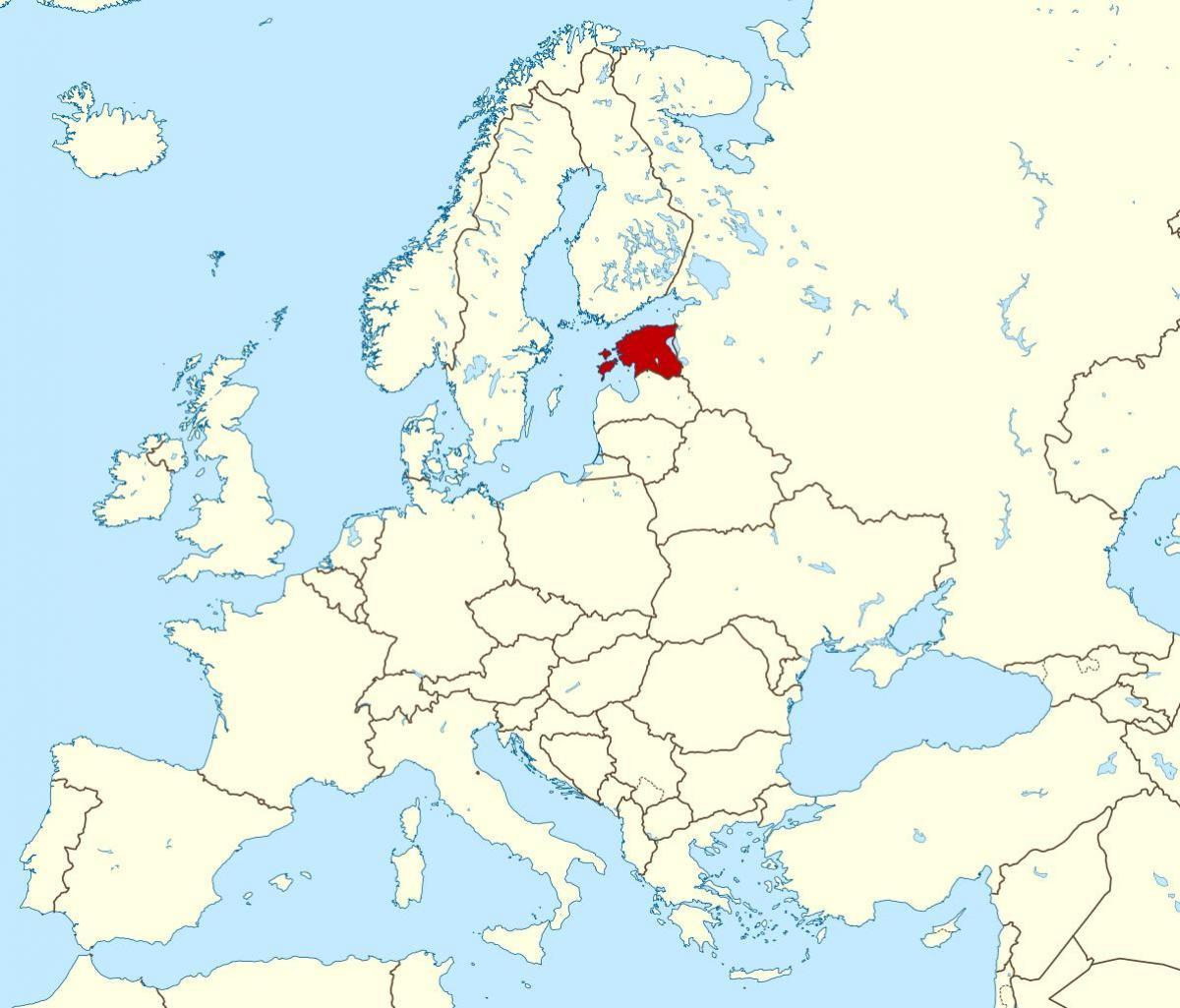 Karta Varlden Europa.Estland I Varlden Karta Estland Plats Pa Varldskartan Norra